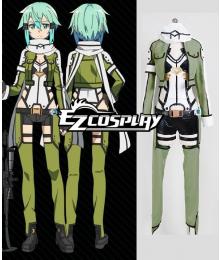 Sword Art Online II SAO Gun Gale Online GGO Sinon Asada Shino Cosplay Costume