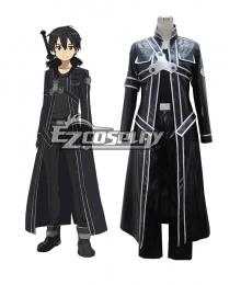 Sword Art Online SAO Sodo Ato Onrain Kirigaya Kazuto Kirito Leather Costume Cosplay Costume