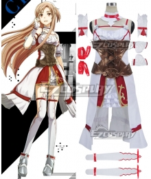 Sword Art Online Hollow Realization SAO Yuuki Asuna Yuki Asuna Game Cosplay Costume