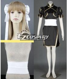 Street Fighter Chun Li black Cosplay Costume