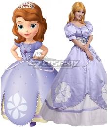 First Sofia: Sofia Princess Light Purple Dress Cosplay Costume