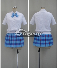 LoveLive! Love Live! Eli Ayase Blue Otonokizaka Academy Summer Uniforms Cosplay Costume