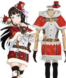 Love Live! Sunshine!! Aqours Dia Kurosawa Christmas Ver. Cosplay Costume