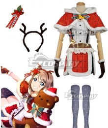 Love Live! Sunshine!! Aqours You Watanabe Christmas Ver. Cosplay Costume