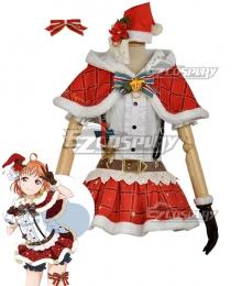 Love Live! Sunshine!! Aqours Chika Takami Christmas Ver. Cosplay Costume