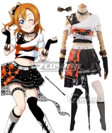 Love Live! Lovelive! Transformed Rock Ver. Honoka Kosaka Cosplay Costume