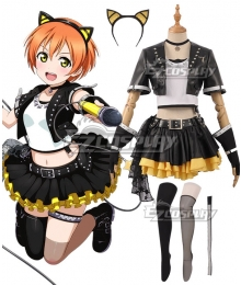 Love Live! Lovelive! Transformed Rock Ver. Rin Hoshizora Cosplay Costume