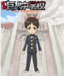 Shingeki! Kyojin Chuugakkou Attack On Titan: Junior High Yeager Eren Cosplay Costume