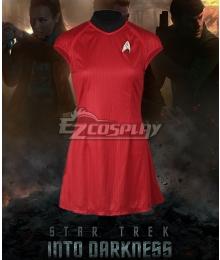 Star Trek Into Darkness Nyota Uhura Red Dress Cosplay Costume