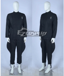 Star Wars Imperial Stormtrooper Officer Black Garbardine Uniform Cosplay Costume