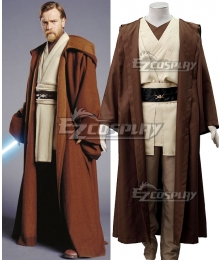 Star Wars Episode III Revenge of the Sith Obi-wan Kenobi Cosplay Costume
