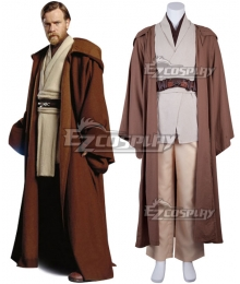 Star Wars Episode III Revenge of the Sith Obi-wan Kenobi Cosplay Costume - New Edition