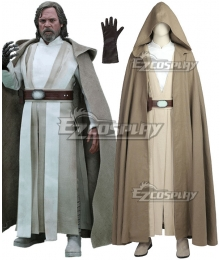 Star Wars The Last Jedi Luke Skywalker Cosplay Costume - No Boots