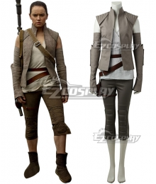 Star Wars The Last Jedi Rey Cosplay Costume - New Edition