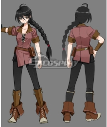 Tales of Berseria Velvet Crowe Brown Cosplay Costume