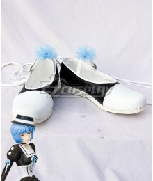 EVA Neon Genesis Evangelion Rei Ayanami White Black Blue Cosplay Shoes