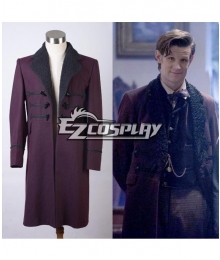 Doctor Who Eleventh 11th Dr. Purple Wool Frock Coat