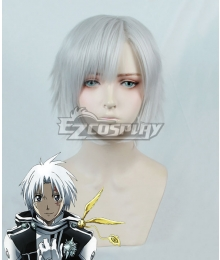 D.Gray Man Allen Walker Silver white Cosplay Wig