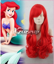 The Little Mermaid / Ariel 65cm Red Culy Cosplay Wig Hair