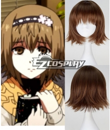 Tokyo Ghoul Fueguchi Hinami Short Straight Brown Color Anime Cosplay Wig
