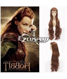 The Hobbit The Lord of the Rings Elf Tauriel Brown Cosplay Wig