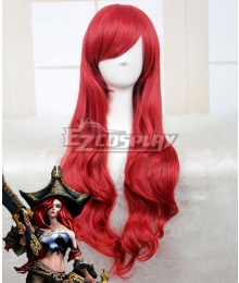 League of Legends LOL Miss Fortune Red Cosplay Wig