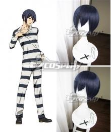 Prison School Purizun Sukuru Kiyoshi Fujino Blue Cosplay Wig