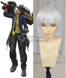 God Eater Soma Schicksal Jinki Silver white Cosplay Wig