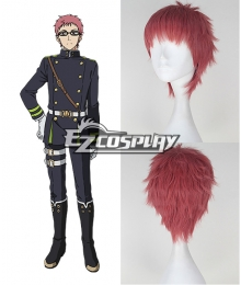 Seraph of the End Owari no Serafu Shiho Kimizuki Short Pink Cosplay Wig
