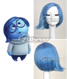 Inside Out Sadness Blue Cosplay Wig