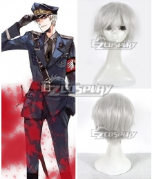 Axis Powers Hetalia Germany Gilbert Beilschmidt Silver Cosplay Wig