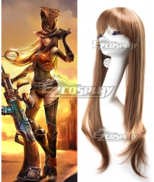 League of Legends Sheriff Caitlyn The Sheriff of Piltover Brown Cosplay Wig