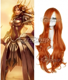 League of Legends Leona The Radiant Dawn Orange Cosplay Wig