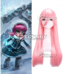 League of Legends Frostfire Annie The Dark Child Pink Cosplay Wig