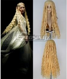 The Hobbit Fairy Queen Galadriel Long Curly Cosplay Wig