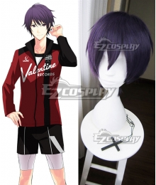 Prince of Stride Alternative Saisei School Reiji Suwa Purple Cosplay Wig