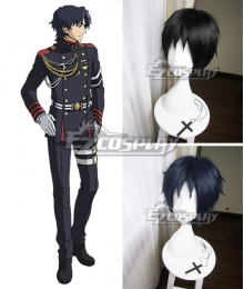 Seraph of the End Owari no Serafu Vampire Reign Guren Ichinose Blue Black Cosplay Wig