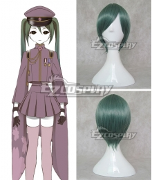 Vocaloid Thousand Cherry Tree Hatsune Miku Dark green Cosplay Wig