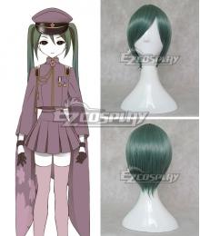 Vocaloid Thousand Cherry Tree Hatsune Miku Dark green Cosplay Wig