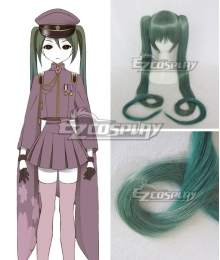 Vocaloid Thousand Cherry Tree Hatsune Miku Dark green Gradient Cosplay Wig