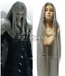 Final Fantasy VII FF7 Sephiroth Silver Cosplay Wig