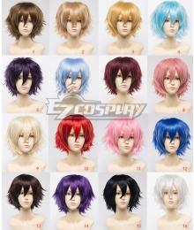 General Cosplay Multicolor Harajuku Short Wigs Lolita 30cm