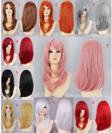 General Cosplay Multicolor Daily Long Wig 50cm Soul Eater Kuran Yuki Orochimaru Wang Yao