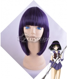 Sailor Moon Sailor Saturn Tomoe Hotaru Saturn Black purple Cosplay Wig