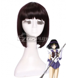 Sailor Moon Sailor Saturn Tomoe Hotaru Saturn Black Cosplay Wig