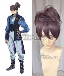 Kabaneri of the Iron Fortress Kurusu Gray purple Cosplay Wig