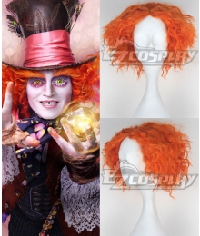 Alice in Wonderland Through the Looking Glass Mad Hatter Cosplay Orange Wig