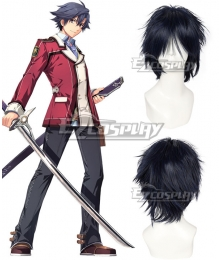 The Legend of Heroes: Sen No kiseki Rean Schwarzer Black Cosplay Wig