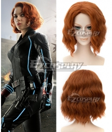 Marvel Avengers Age of Ultron Black Widow Natasha Romanoff Brown Cosplay Wig