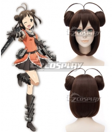 Kantai Collection KanColle Light Cruiser Naka Brown Cosplay Wig